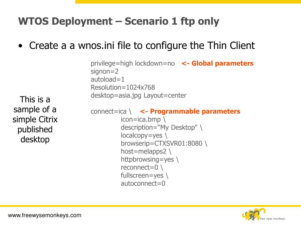 PPT - Wyse Thin OS Technical Training PowerPoint