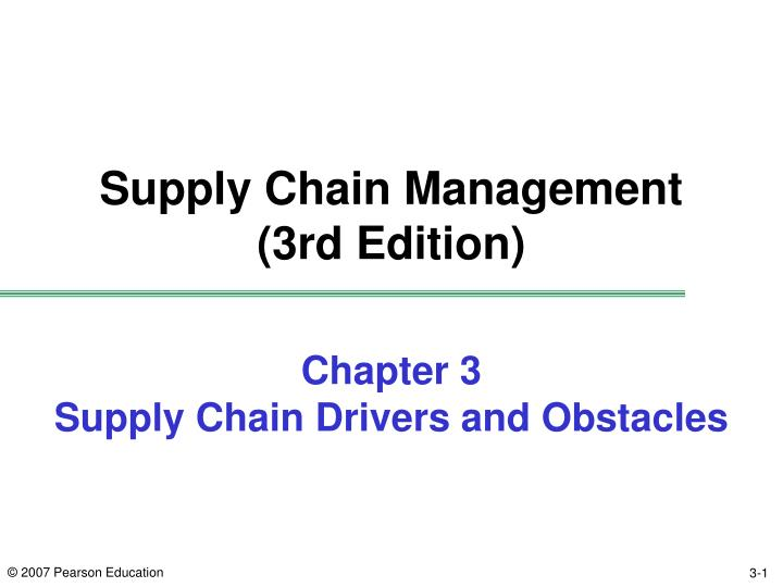 chapter 3 supply chain drivers and obstacles n.