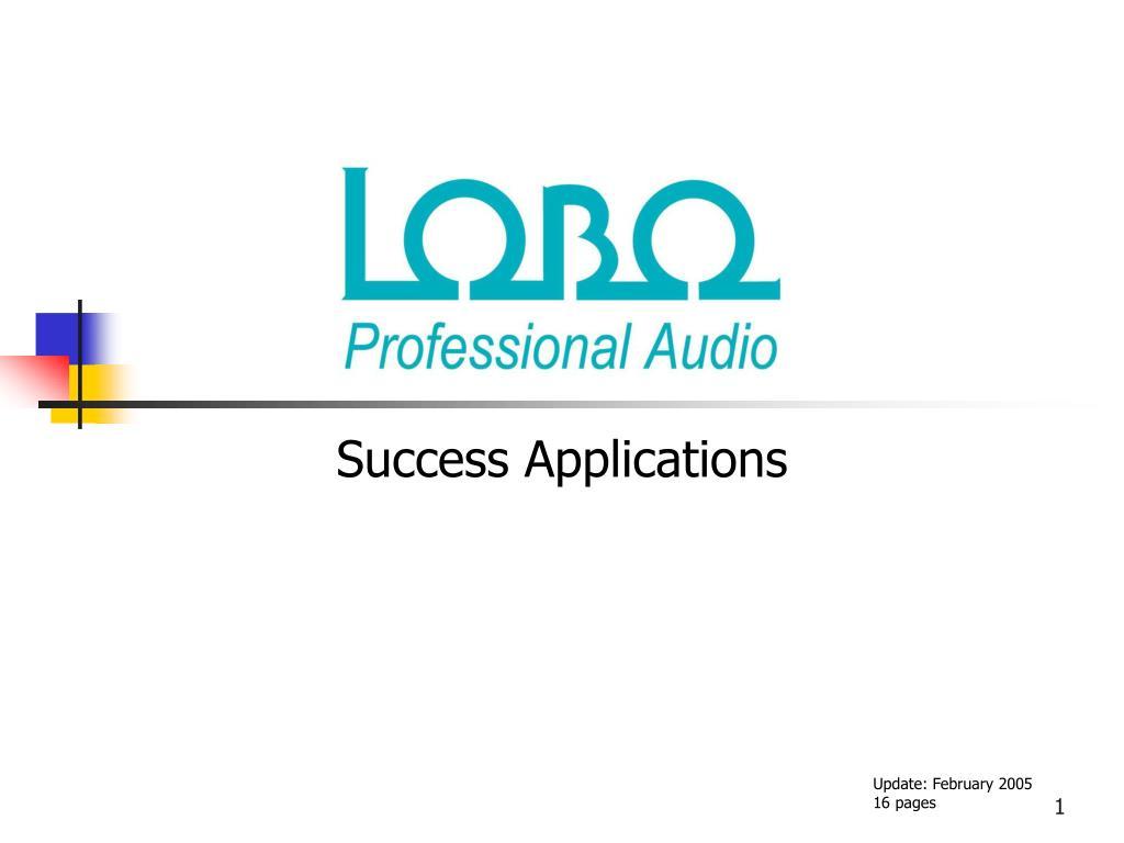success applications l.