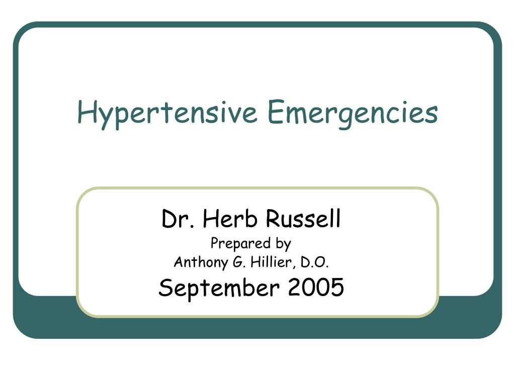 hypertensive emergencies l.
