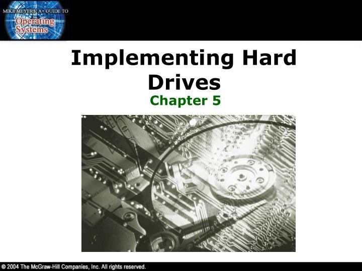 implementing hard drives n.