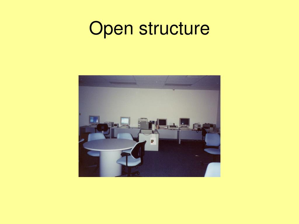 Open structure
