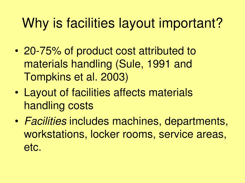 Why is facilities layout important?