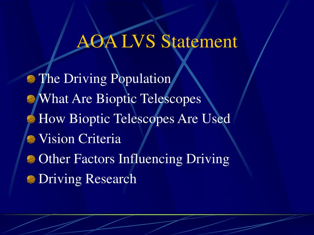 AOA LVS Statement
