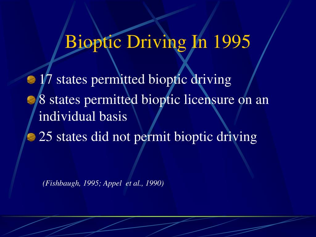 Bioptic Driving In 1995