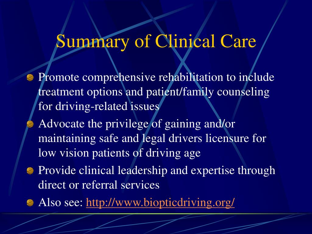 Summary of Clinical Care