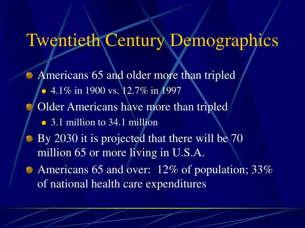 Twentieth Century Demographics