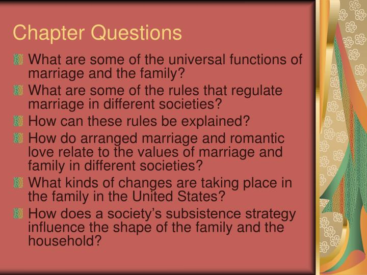 Chapter questions