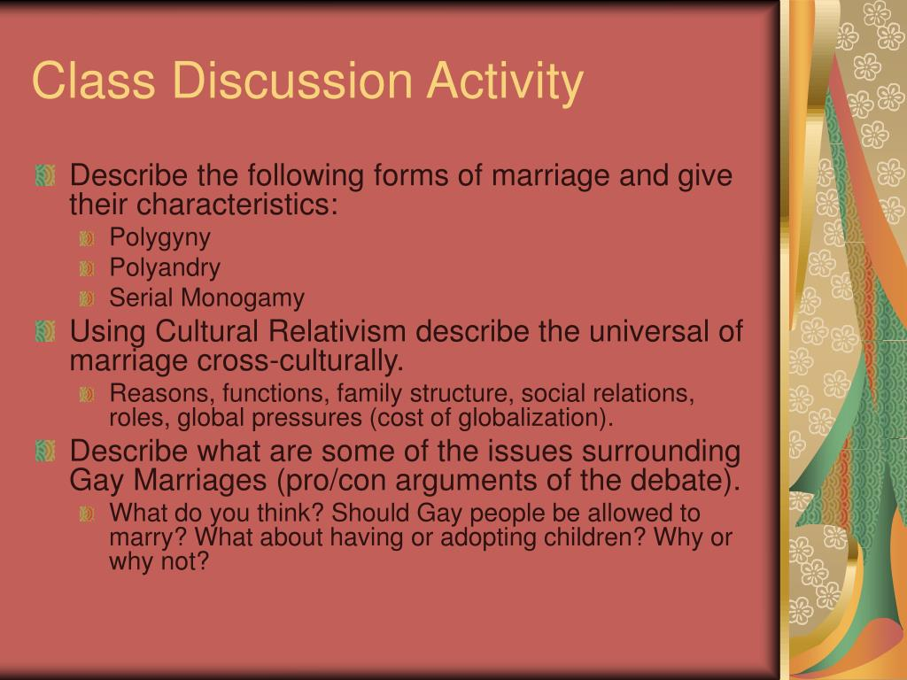 Class Discussion Activity