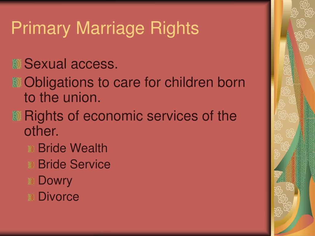 Primary Marriage Rights