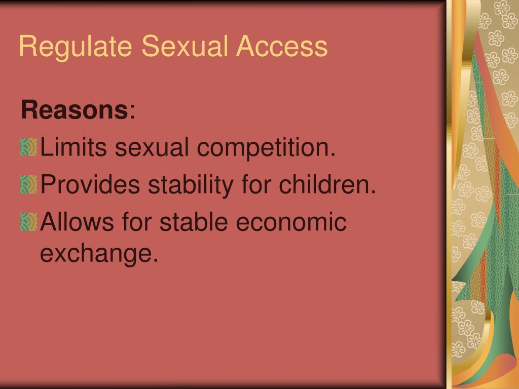 Regulate Sexual Access
