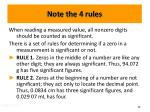 note the 4 rules