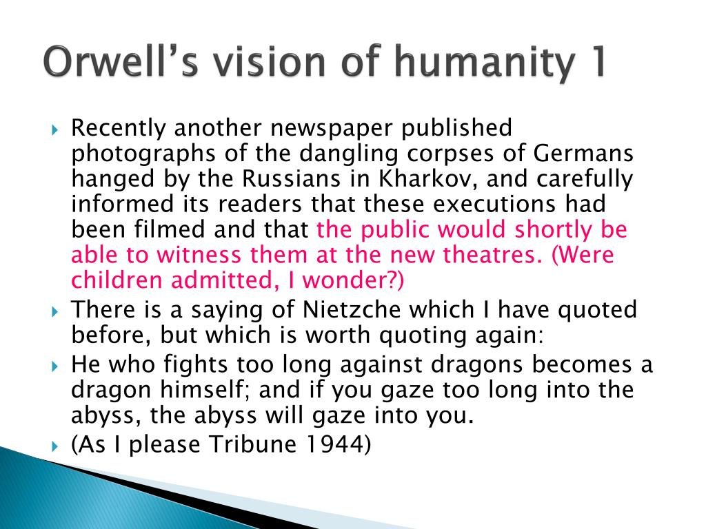 george orwell's vision compared to our
