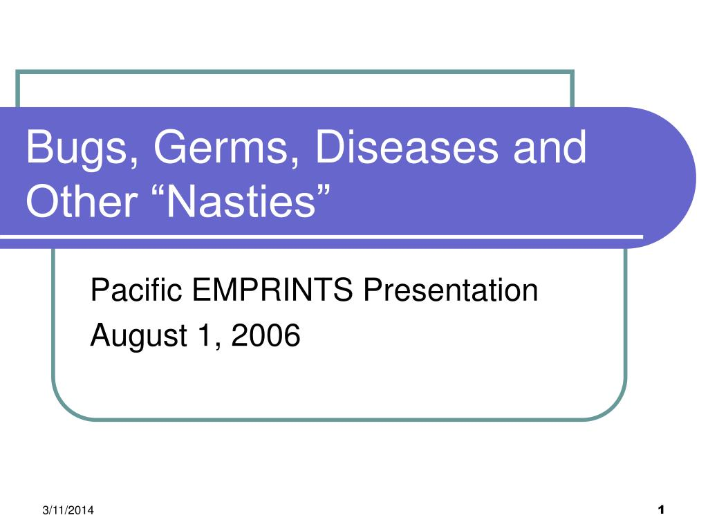 bugs germs diseases and other nasties l.
