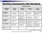 matching assessments with standards33