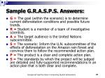 sample g r a s p s answers