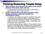 thinking reasoning targets using