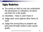 ugly rubrics