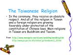 the taiwanese religion