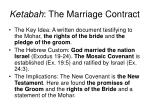 ketabah the marriage contract