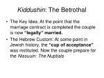 kiddushin the betrothal