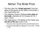 mohar the bride price