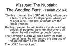 nissuuin the nuptials the wedding feast isaiah 25 6 8