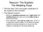 nissuuin the nuptials the wedding feast