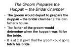 the groom prepares the huppah the bridal chamber