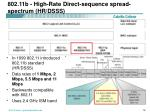 802 11b high rate direct sequence spread spectrum hr dsss1