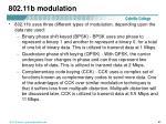 802 11b modulation