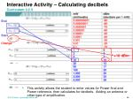 interactive activity calculating decibels curriculum 3 2 3