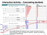 interactive activity calculating decibels1