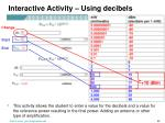 interactive activity using decibels