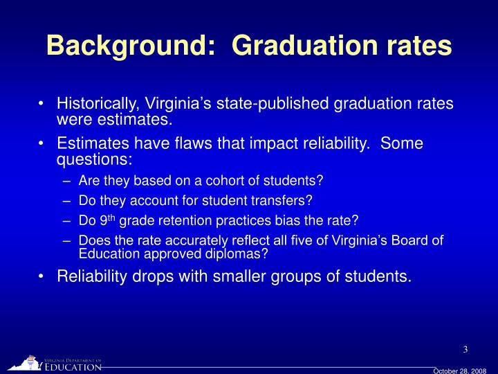 Background graduation rates