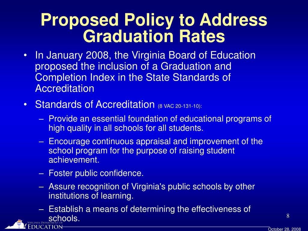 Proposed Policy to Address Graduation Rates