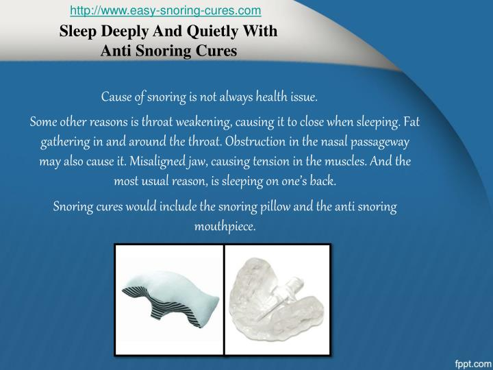 Http://www.easy-snoring-cures.com