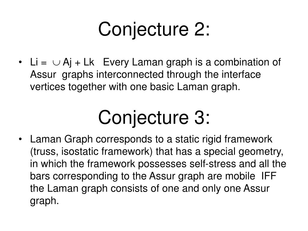 Conjecture 2: