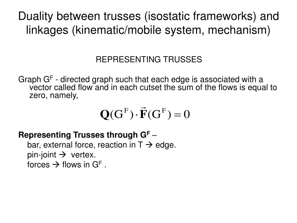 Duality between trusses (isostatic frameworks) and linkages (kinematic/mobile system, mechanism)