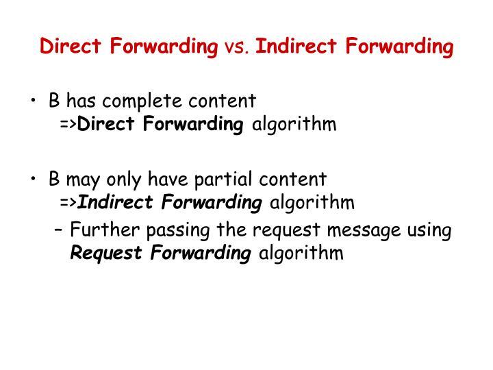 Direct Forwarding