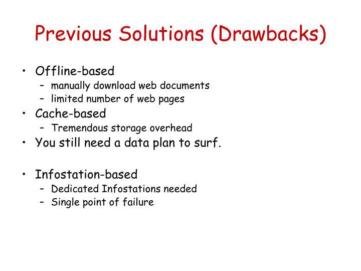Previous Solutions (Drawbacks)