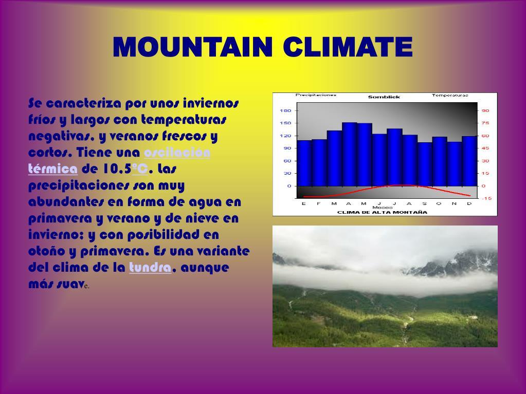 MOUNTAIN CLIMATE