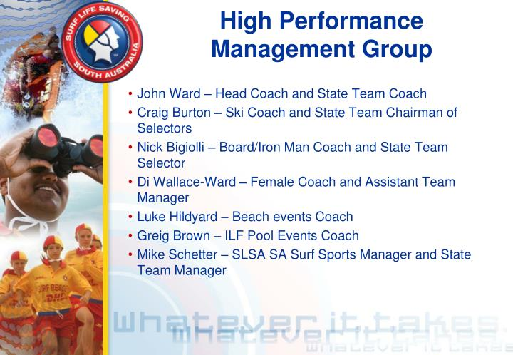 High performance management group