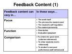feedback content 1