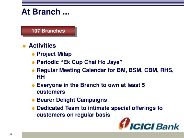 At Branch ...