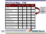 nca road map fos