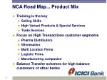 nca road map product mix1