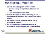 nca road map product mix2