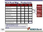 nca road map productivity