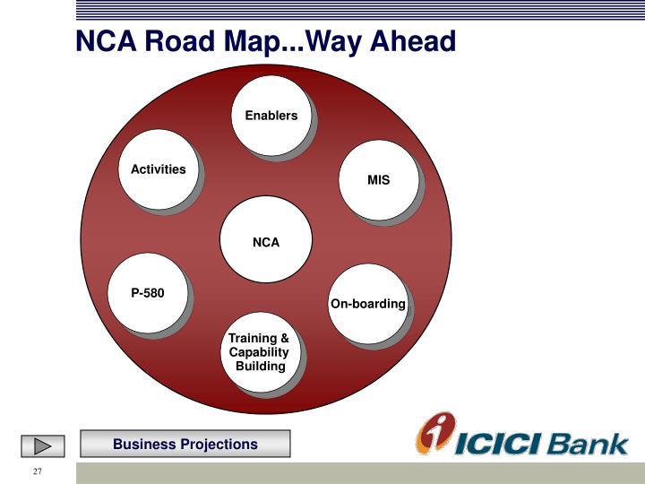 NCA Road Map...Way Ahead